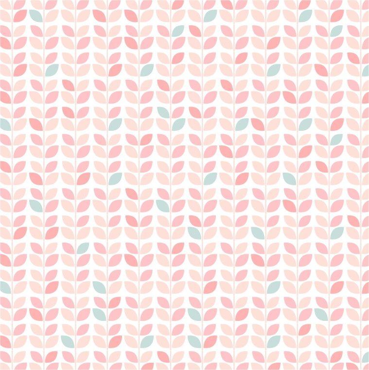 Papel de Parede Geométrico Folhinhas Rosa 51814E