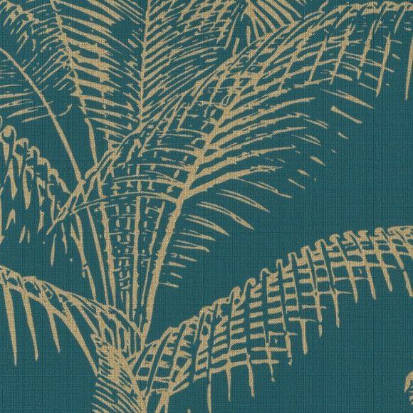 Papel de Parede Folhas Palmeira Tropical 116D2F