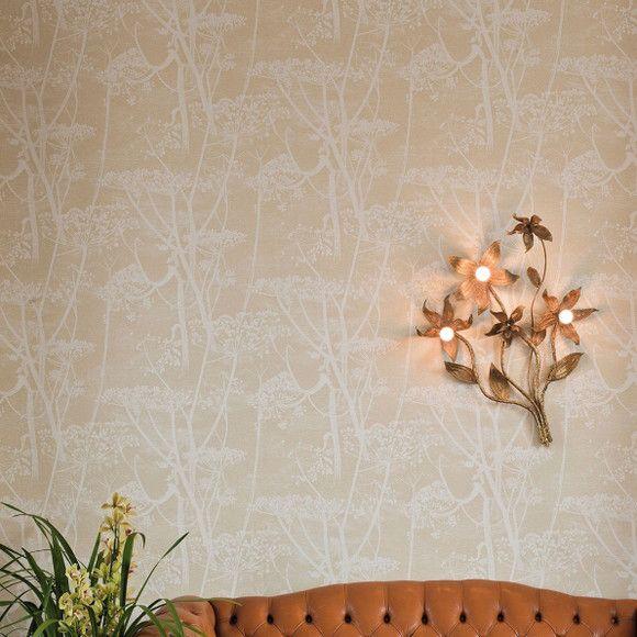Papel de Parede Fundo Efeito Textura Floral 10683D