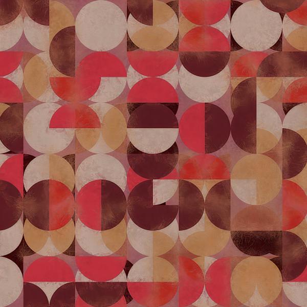 Papel de Parede Geométrico Efeito Círculos ADcorista 16C3688