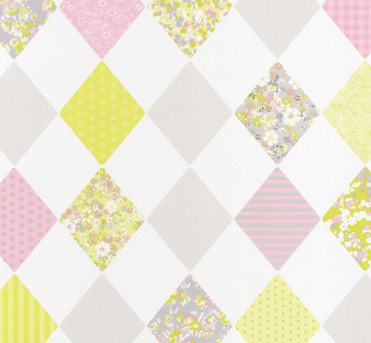 Papel de Parede Geométrico Losangos E4BFAD