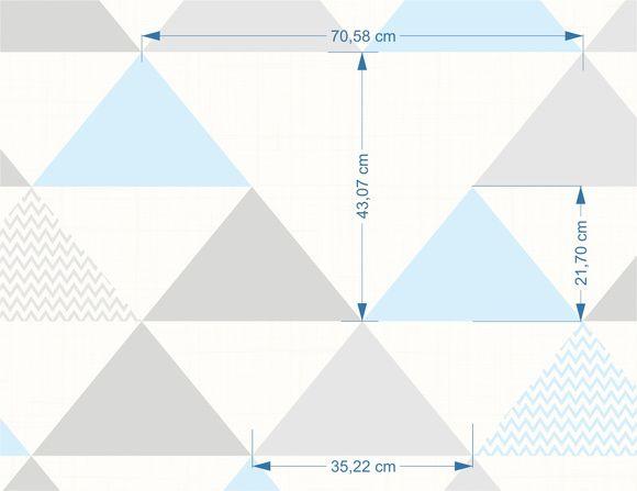 Papel de Parede Geométrico Triângulos ADcorista 955B9A