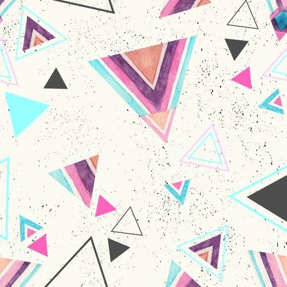 Papel de Parede Geométrico Triângulos Abstrato C3749F