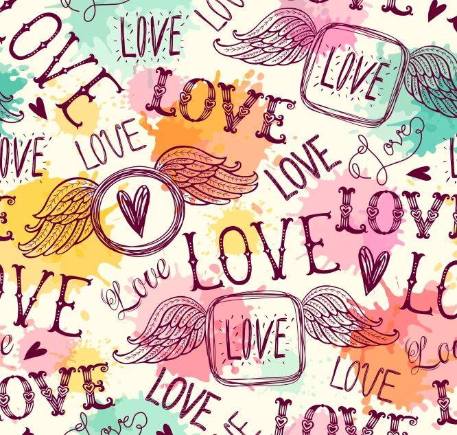 Papel de Parede Amor Love 68B275