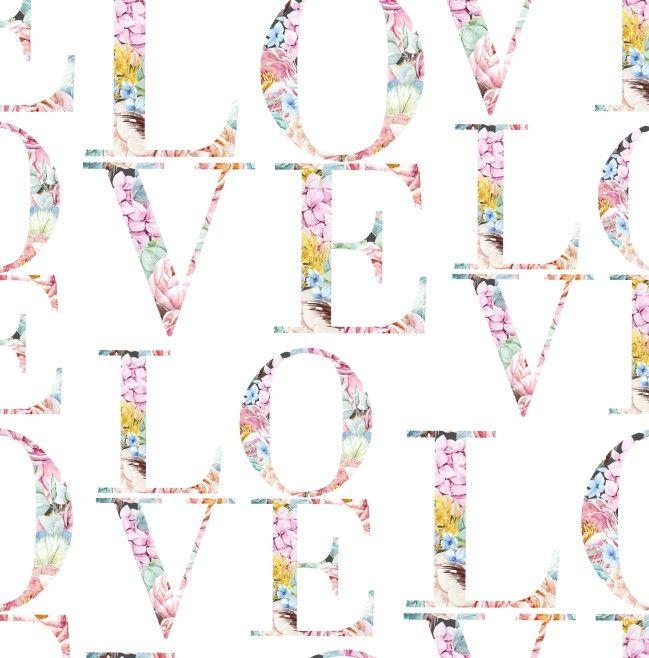 Papel de Parede Love Floral 92D5A2