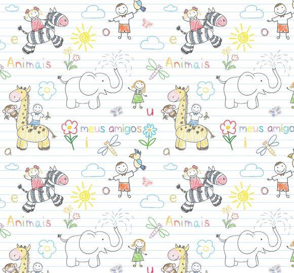 Papel de Parede Meus Amigos Animais Safari 40DE0C