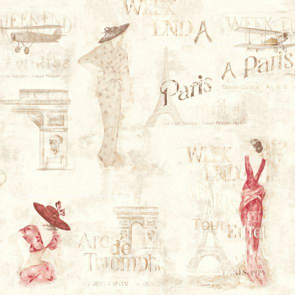 Papel de Parede Moda e Beleza Paris FC4049