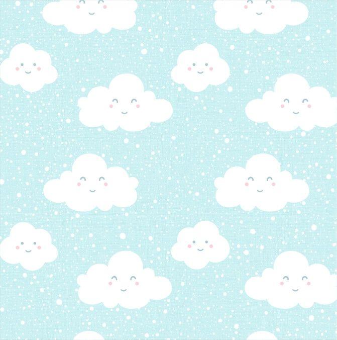 Papel de Parede Nuvens Azul 66EA3C