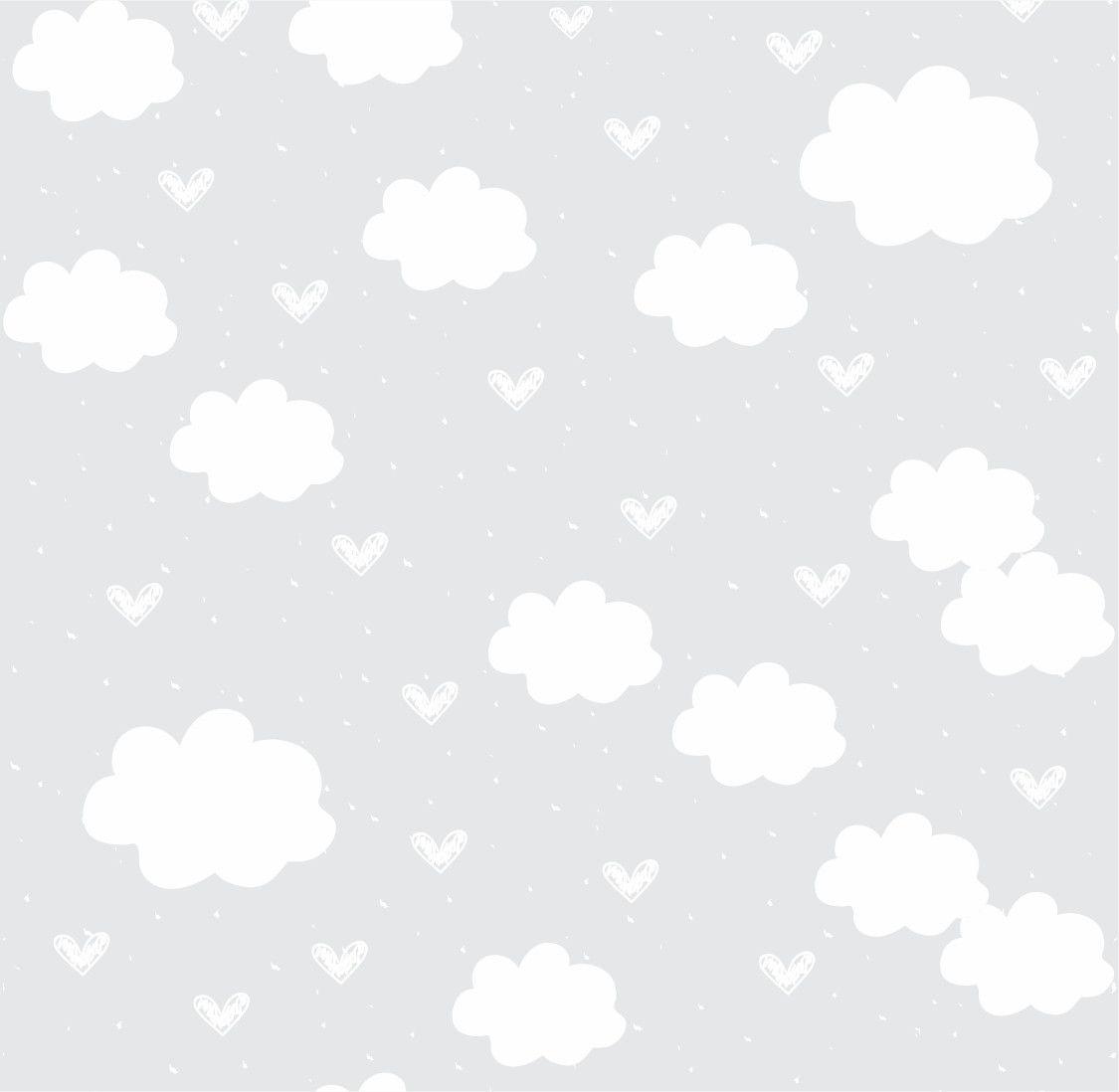Papel de Parede Nuvens Cinza 68D96D