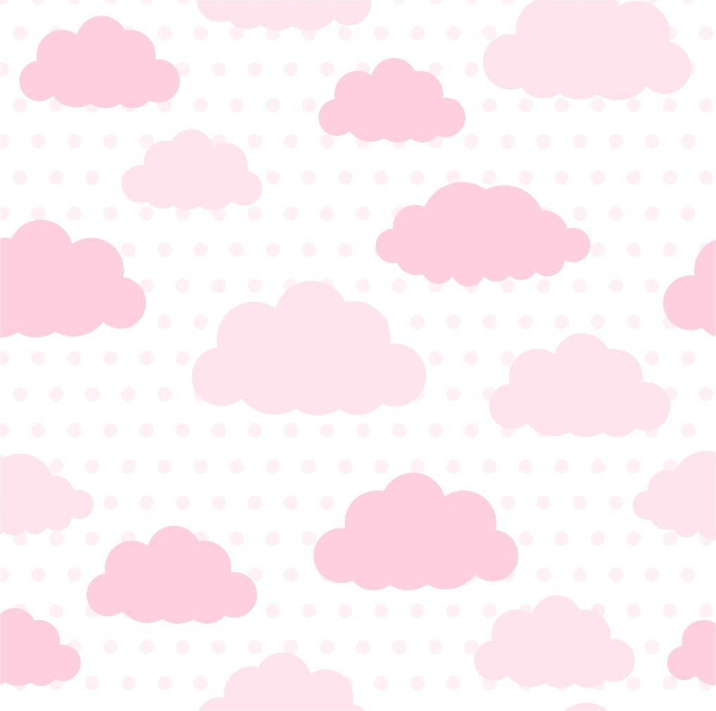 Papel de Parede Nuvens Rosa 706B8D