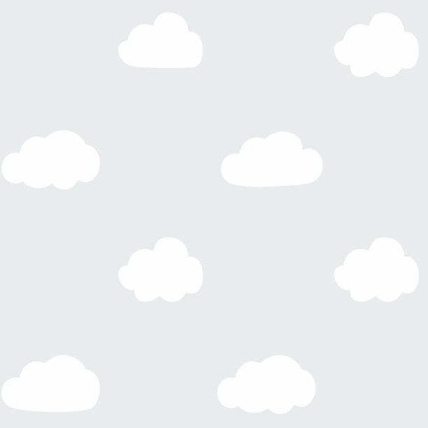 Papel de Parede Nuvens Cinza 6797DA