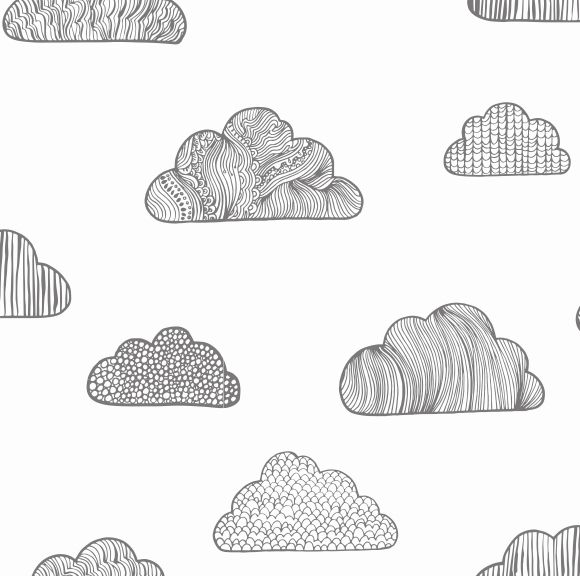Papel de Parede Nuvens B7BBAC