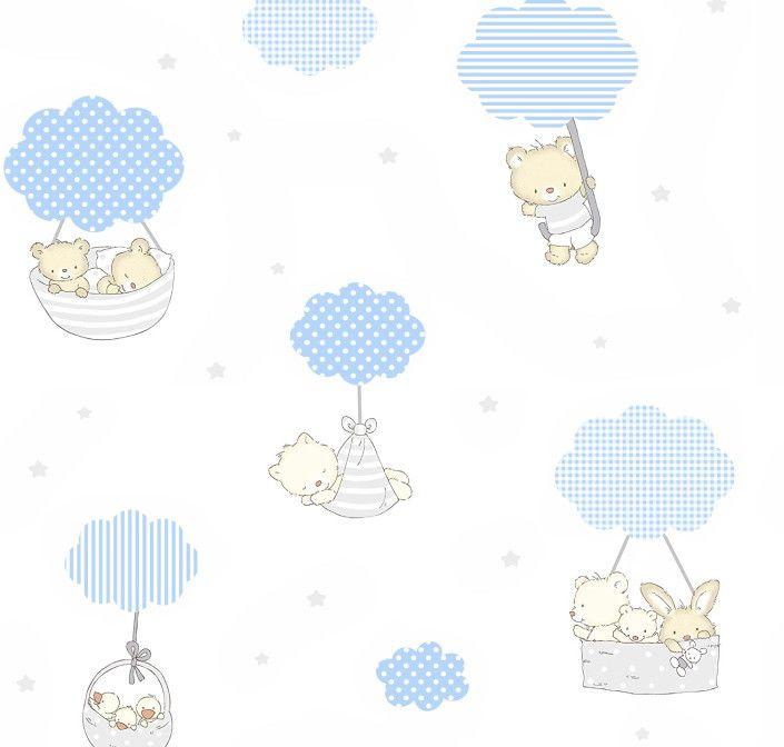 Papel de Parede Nuvens e Ursinhos BABF3D