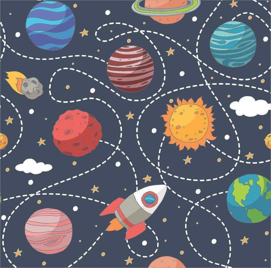 Papel de Parede Espaçonave Planetas 77E9E3