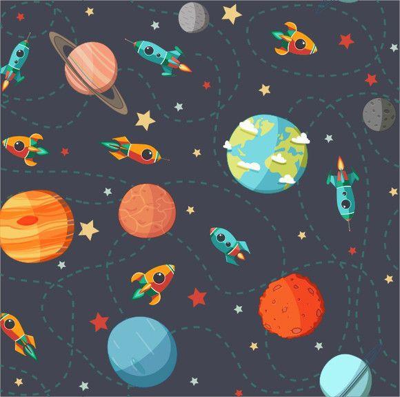Papel de Parede Planetas e Foguetes 40E66A