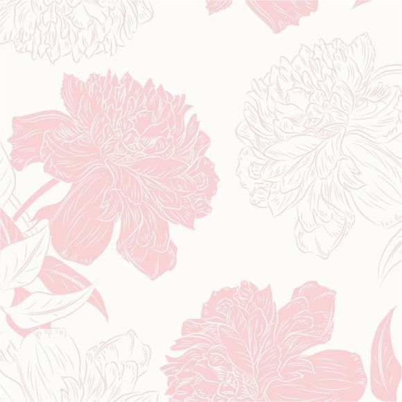 Papel de Parede Rosa Floral Grande 1228EAD