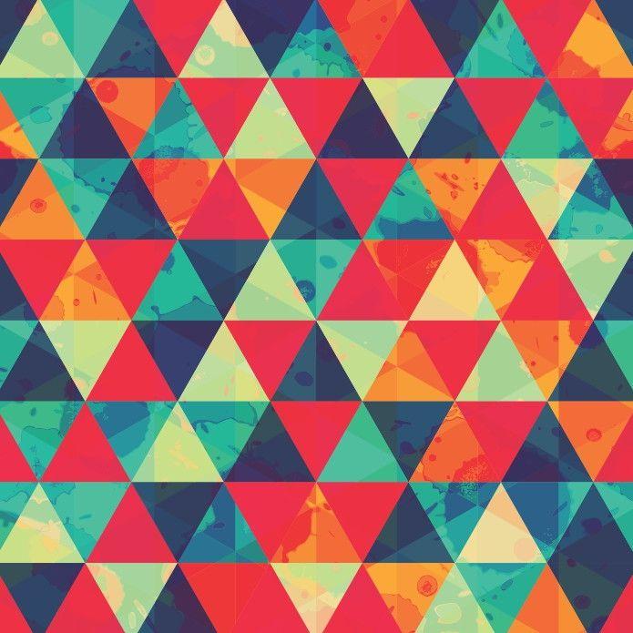 Papel de Parede Geométrico Triângulos 556BAD