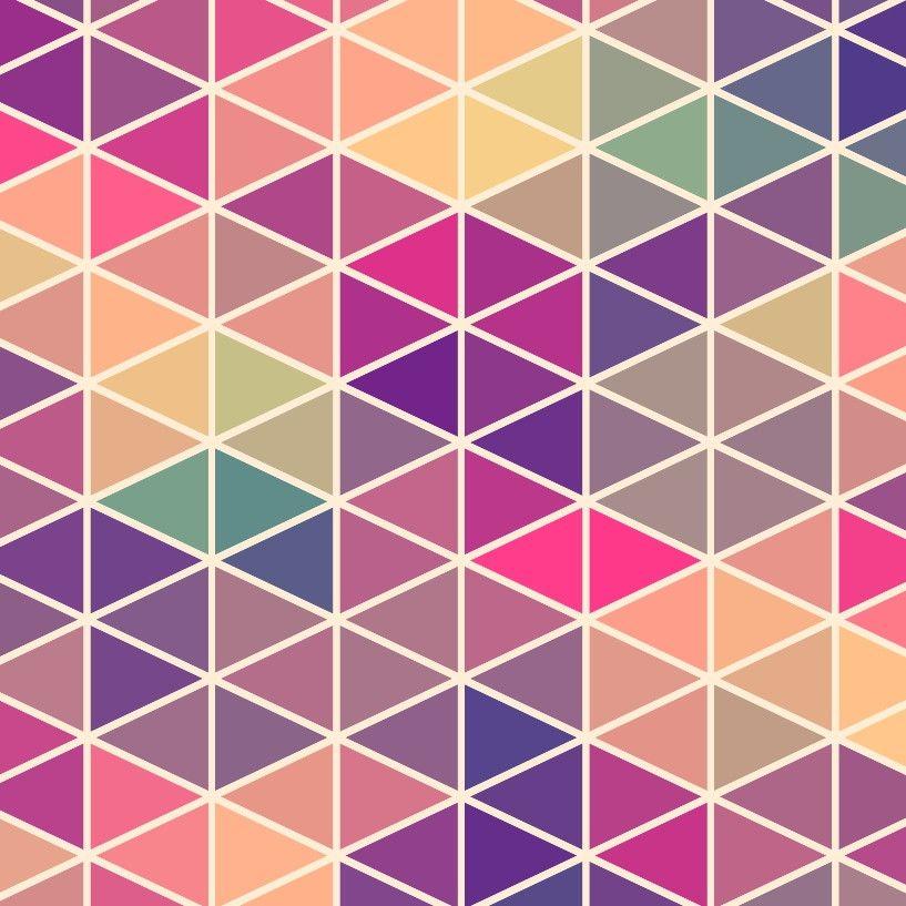 Papel de Parede Geométrico Triângulos 47C5DD
