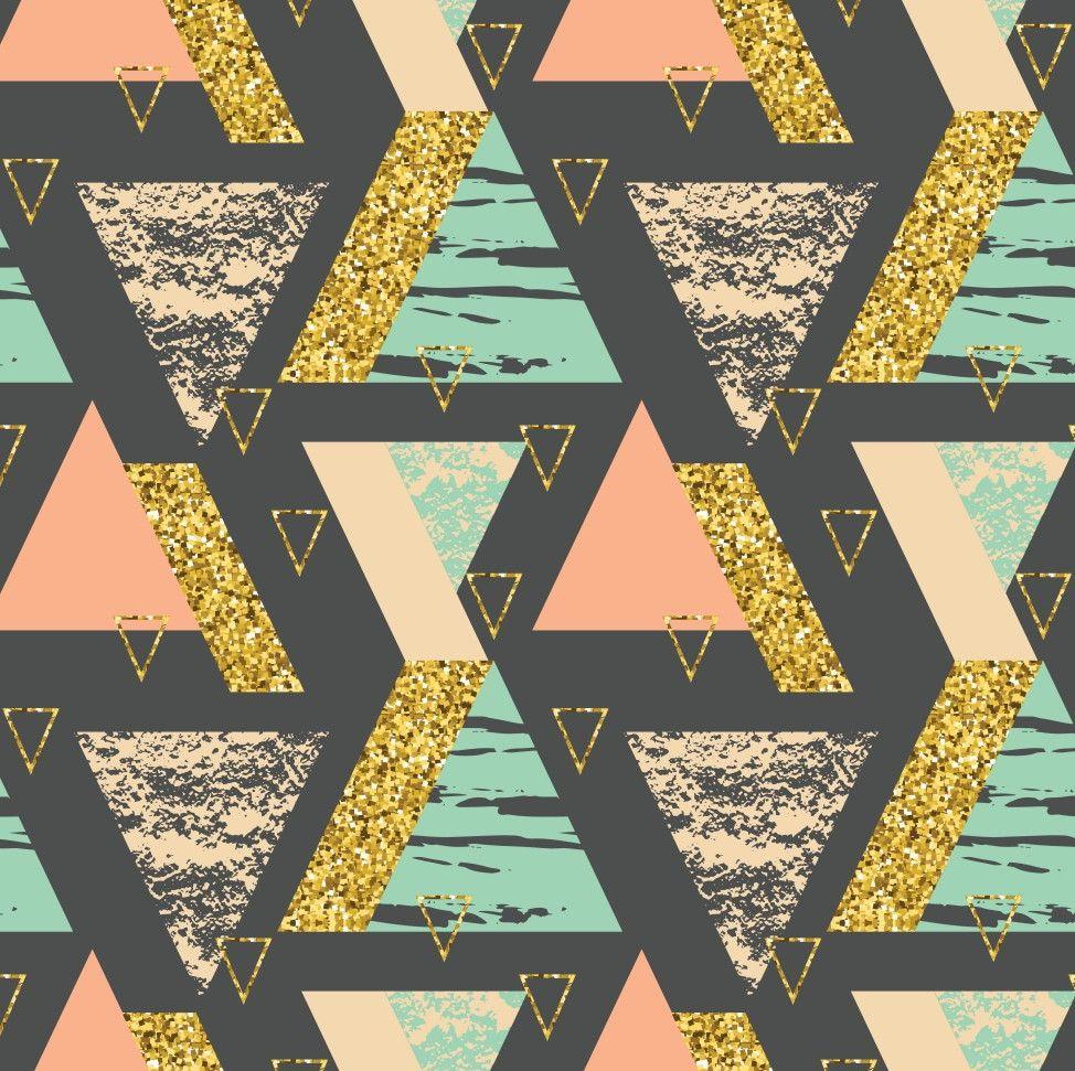Papel de Parede Geométrico Triângulos 7BEB3F