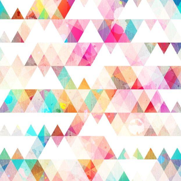 Papel de Parede Geométrico Triângulos 66BB65