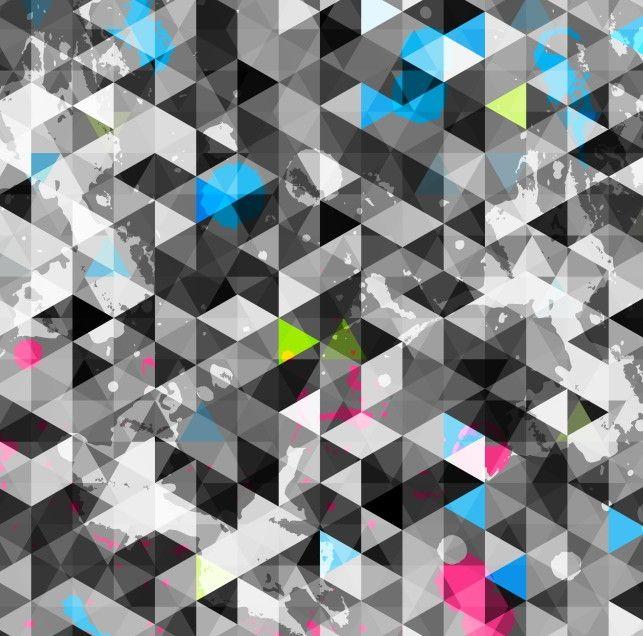 Papel de Parede Geométrico Triângulos 66BB0D