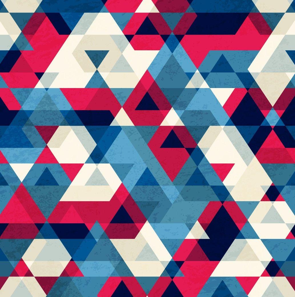 Papel de Parede Geométrico Triângulos 660CC7