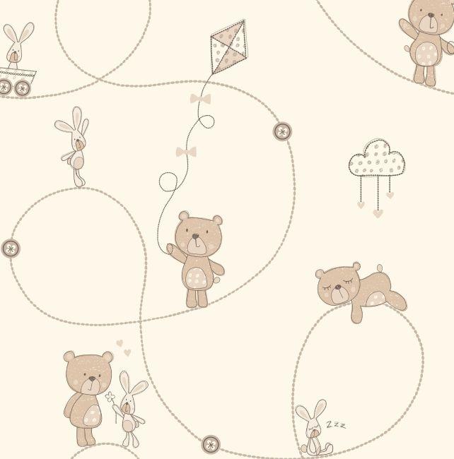 Papel de Parede Ursos Ursinhos B9B597