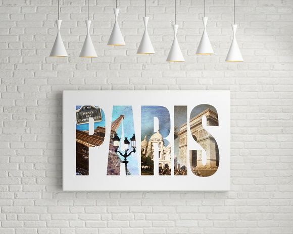 QUADRO DECORATIVO PARIS 6D9C5B