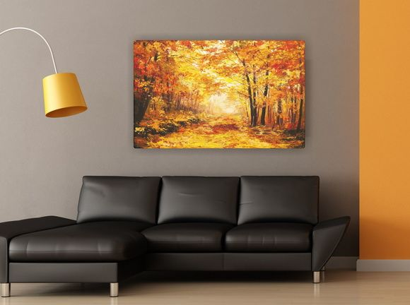 Quadro de Parede Decorativo Árvores Floresta 5028AF