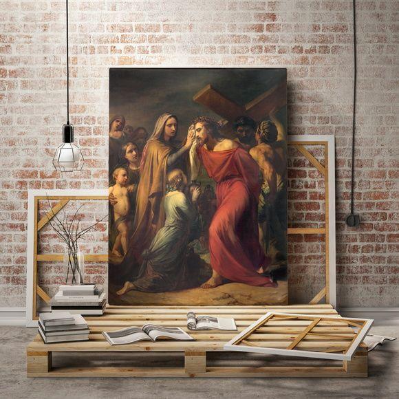 Quadro Reprodução Verônica enxuga o rosto de Jesus por Jean Baptiste van Eycken (1809 - 1853) 4DF4DC