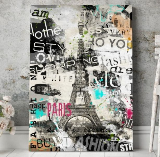 QUADRO DECORATIVO PARIS TORRE EIFFEL 921193