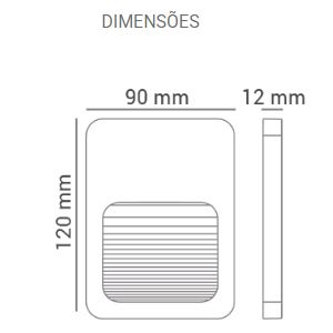 Balizador LED 2W Branco Quente Bivolt