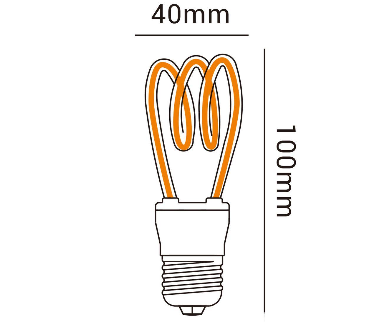 LAMPADA DECOR  LED ESPIRAL 4W 2,2K 39510