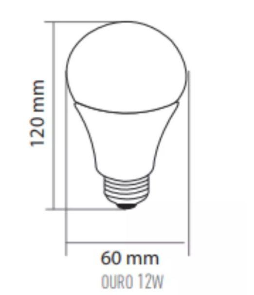 LAMPADA LED BULBO  A60  12W  BC 6500K NB