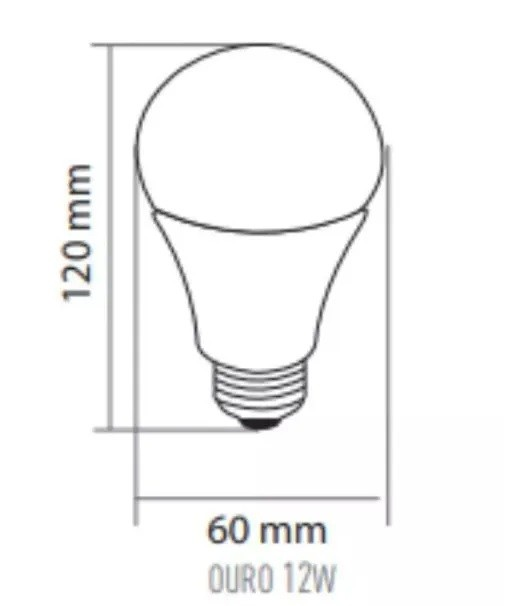 LAMPADA LED BULBO  A60  12W  AM3000K NBR