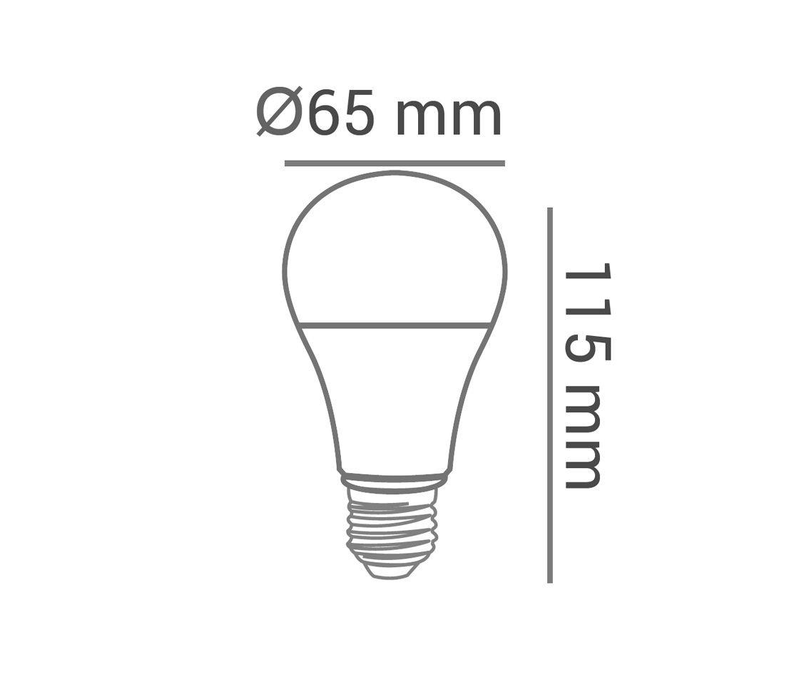 LAMPADA LED BULBO  A60  12W DIMMER AM BI