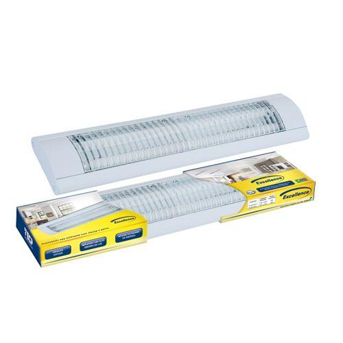 Luminária LED Excellence sobrepor 2x10W completa