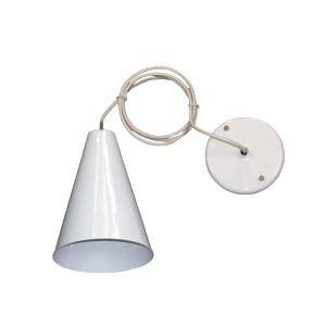 Luminária Pendente Cônico Alumínio Branca