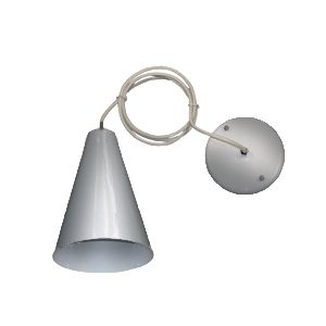 Luminária Pendente Cônico Alumínio Escovado