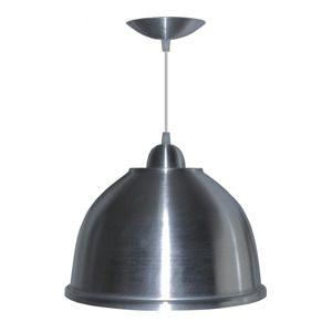 Luminária Pendente Alumínio Escovado