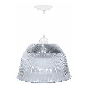 Luminária Prismática Pendente Alumínio Transparente