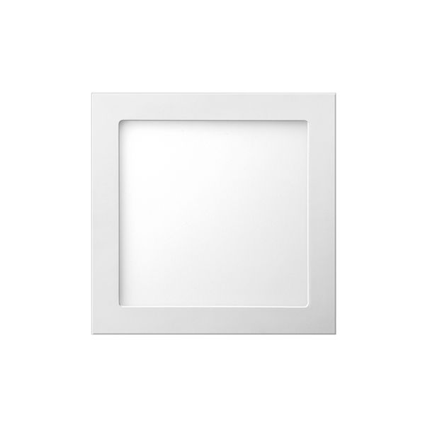 Plafon de embutir LED 12W quadrado branco quente