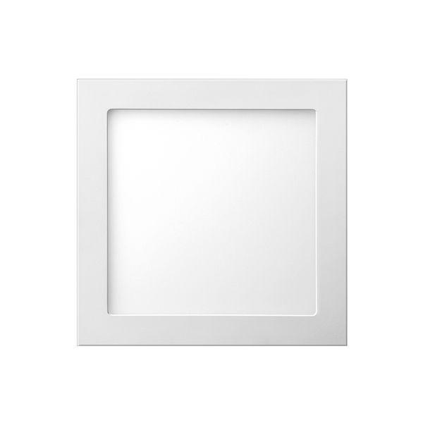 Plafon de embutir LED 18W quadrado branco frio
