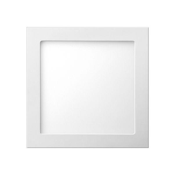 Plafon de embutir LED 24W quadrado branco quente