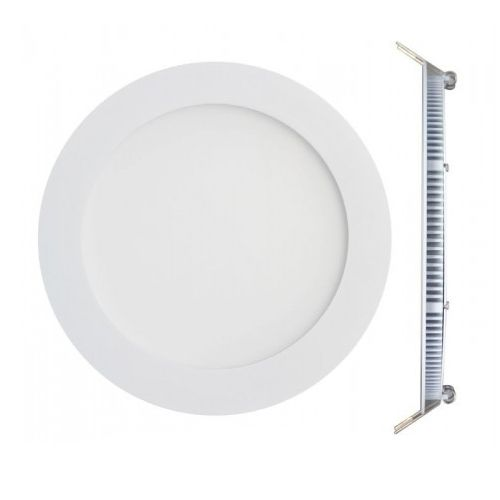 Plafon de embutir LED 24W redondo branco frio