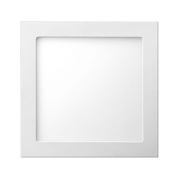 Plafon de embutir LED 32W quadrado branco frio