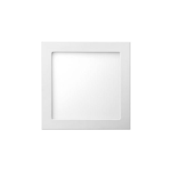 Plafon de embutir LED 6W quadrado branco frio