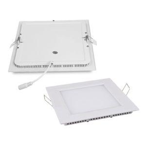 Plafon de embutir LED 6W quadrado branco quente