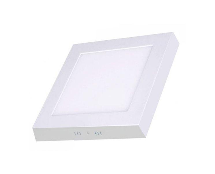 Plafon de sobrepor LED 12W quadrado branco frio
