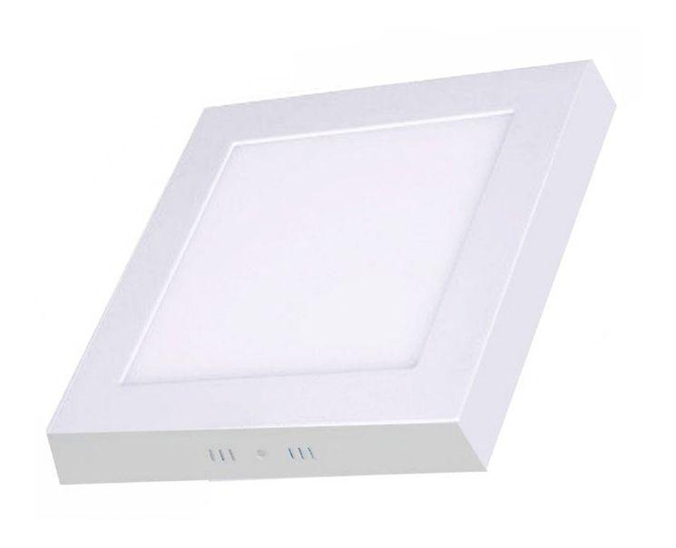 Plafon de sobrepor LED 24 W quadrado branco quente